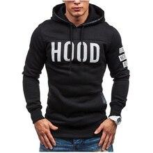 цены Hoodies Men 2019 Brand Male Long Sleeve Hoodie Hood Print Sweatshirt Mens Cardigan Moletom Masculino Hoodies Slim Tracksuit 3XL