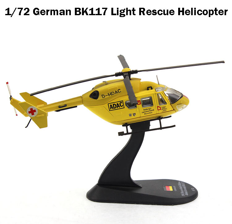Super Value  Rare  1/72 German BK117 Light Rescue Helicopter  Semialloy  Collection Model