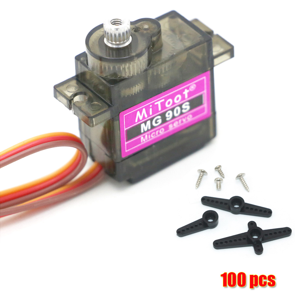 5/10/20/50/100 pcs/lot Mitoot MG90S Metal gear Digital 9g Servo For Rc Helicopter Plane Boat Car MG90 for Arduino Wholesale(China)