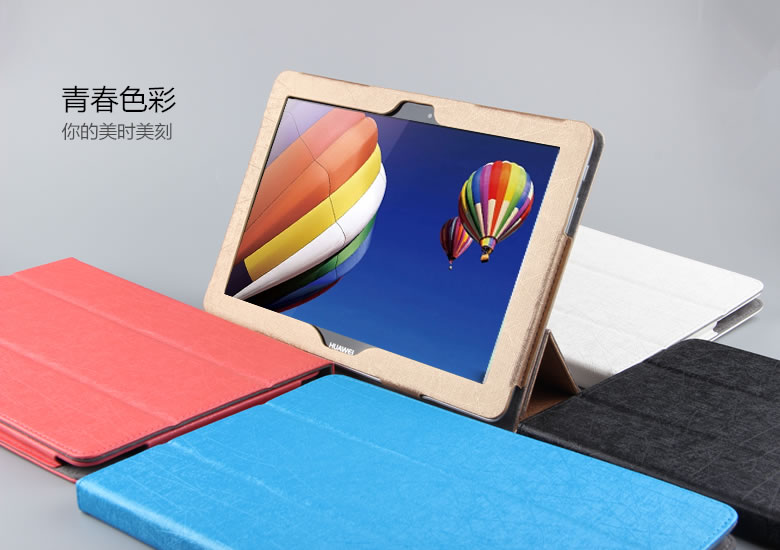 3 in 1 New Fashion Pu Leather Case Stand Cover For huawei Mediapad 10 link Tablet PC + Stylus + Screen Film free shipping new 10 1 original stand magnetic leather case cover for lenovo ibm thinkpad 10 tablet pc with sleep function
