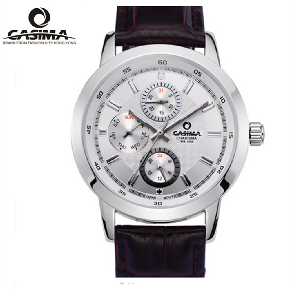 2017 CASIMA Stainless Steel font b Men s b font Watch Sports Calendar Dial Military Belt