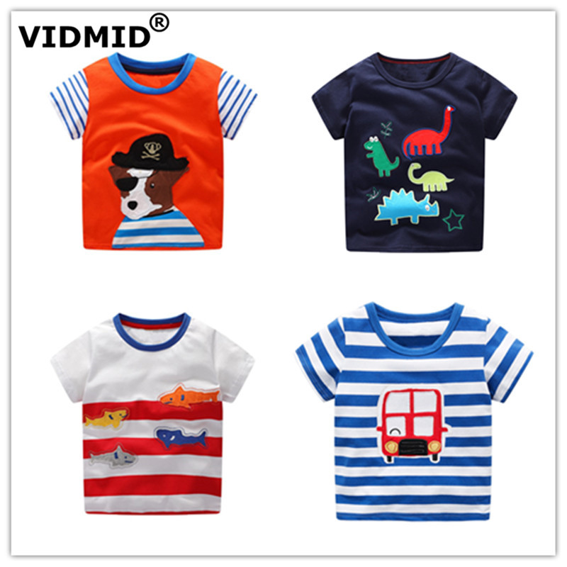 VIDMID T-Shirt Kids Clothing Tops Tees Short-Sleeve Car-Design Baby-Boys Cotton