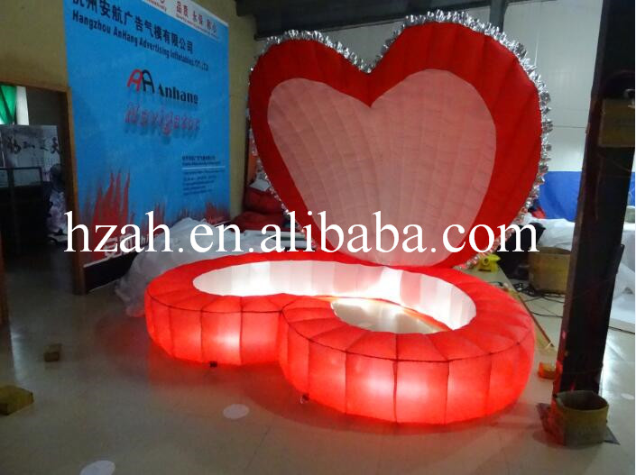 Heart Shape Inflatable Red Seashell Inflatable Stage Shell