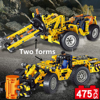 Compatible Legoe Technic Toy mining equi Team Military Transport Two kinds of deformation Collection Toy Gift
