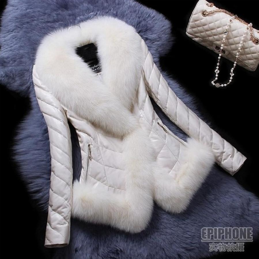 Women's Clothing Faux Fur Hard-Working Fox Fur Big Collar Patchwork Overcoat Womens Winter New Coat Long Sleeve Female Jackets Pu Leather Jacket Faux Fur Coats L1222