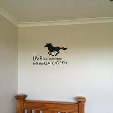 Horse Wall Stickers Art Decor – Horse Cowboy Wall Quote Vinyl Decal