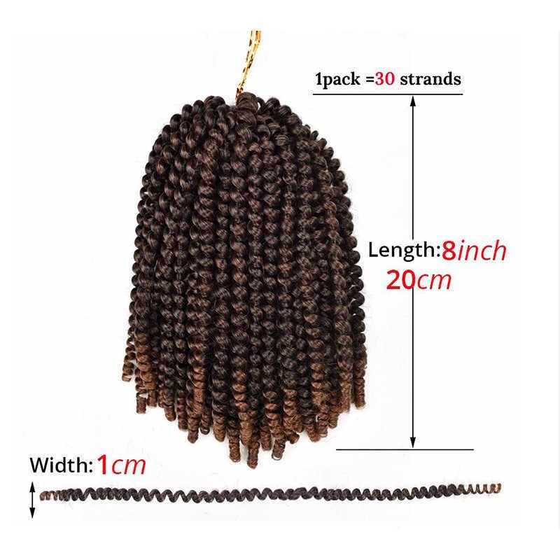 MERISIHAIR 8 дюймов пушистые вязанные крючком косы весенние скручивающие волосы синтетические волосы для наращивания косички кудрявые скрутки 110 г/упак.