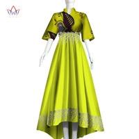 Plus Size Women traditional african long dresses Brand Custom Clothing Africa Wax Dashiki bohemian Dress regular 5xl BRW WY3306