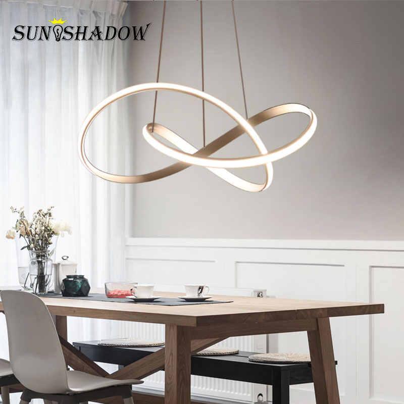Домашний современный светодиодный подвесной светильник для гостиной, столовой, висячие лампы для дома, светодиодный подвесной потолочные светильники, светильники, золотые и белые и черные