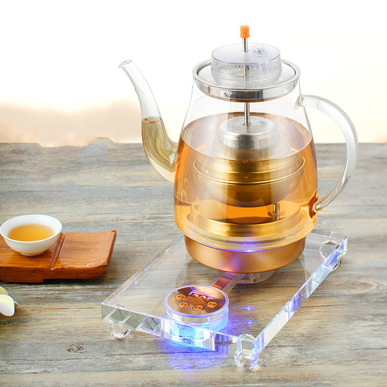 Electric kettle Crystal health pot fully automatic tea - making machine multi-function thick glass electric hot electric kettle health cup mini health pot full of glass electric hot office brew