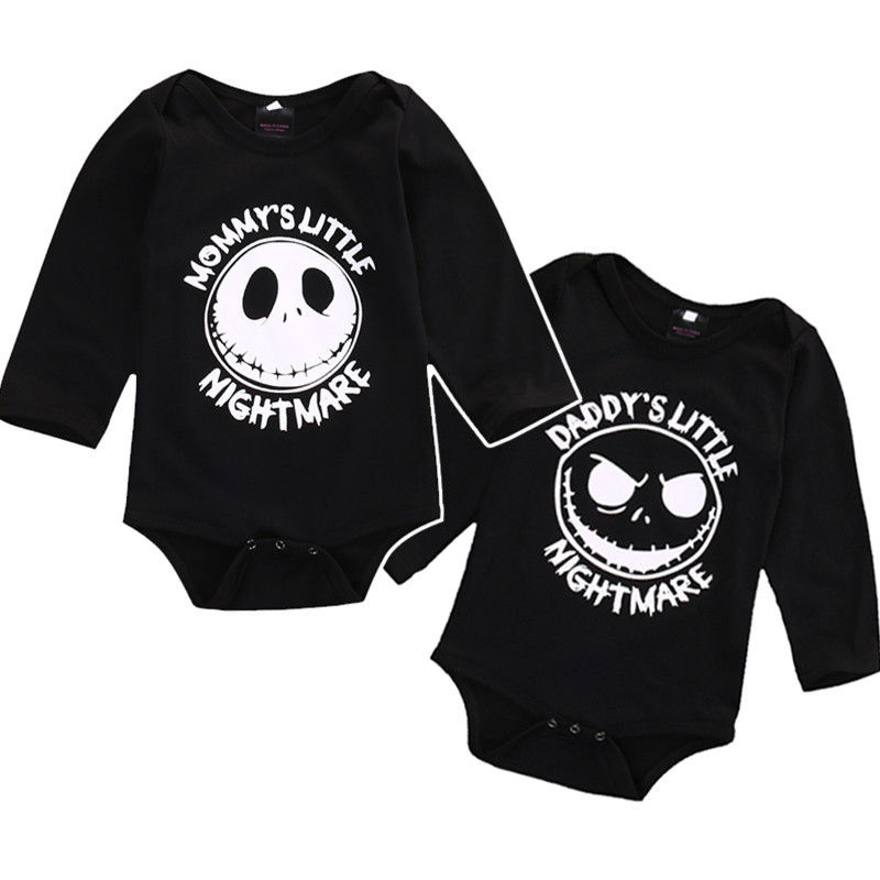 Newborn Fall Winter   Rompers   2016 Cute Toddler Baby Girl Boy Halloween long sleeve Jumpers   Rompers   Playsuit Outfits baby Clothes