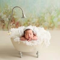 Новорожденный реквизит для фотосъемки для девочки Новая Железная Ванна фотостудия креативный новорожденный реквизит для фотографий корзи