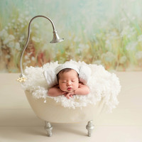 Newborn Photography Props for Girl New Iron Bathtub Photo Studio Creative Newborn Photo Props Photography Bucket Posing Beans