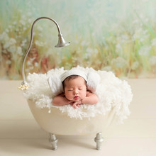 Newborn Photography Props for Girl New Iron Bathtub Photo Studio Creative Bucket Posing Beans