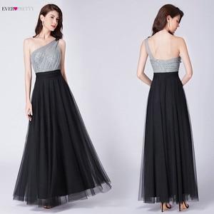 Image 4 - Sexy une ligne robes de soirée pour les femmes jamais assez élégant une épaule sans manches dos nu paillettes longues robes de soirée formelles 2020