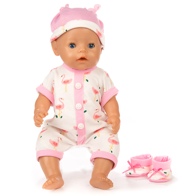 3pcs In 1, Hat+Suit+Shoes Fit For 43cm Baby Doll Reborn Doll 17inch Doll Clothes