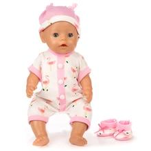 3pcs In 1, Hat+Suit+Shoes Fit For 43cm Baby Born Doll Reborn