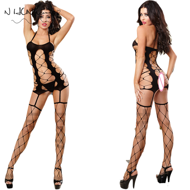 Sexy Lingerie Hot Sexy Costumes Bodystocking Erotic Underwear Sex Body Latex Women Bodysuits Lenceria Erotica Mujer Sexi QQ213