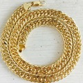 "Wholesale /retails Men's Necklace Thick 24K Yellow Gold Filled Double Curb Chain mens jewelry 20"",10mm / 8mm gold chain necklace"