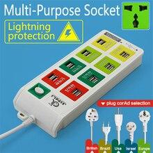 ЕС/Великобритания/США/AU Plug 16 USB мультиэлектрическая розетка patching board с бизнесом