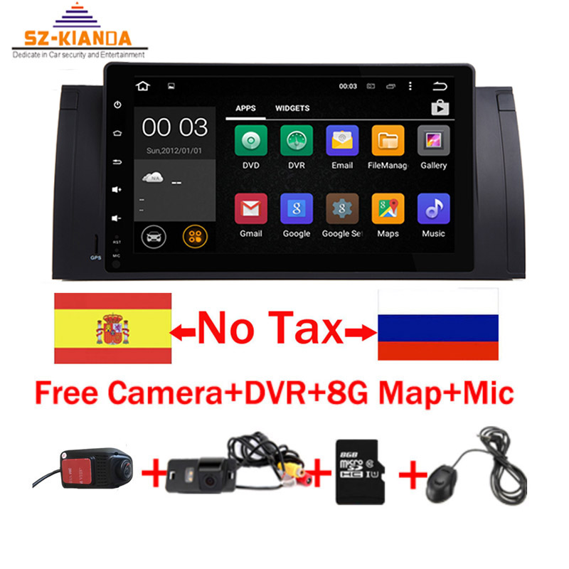 Android 9.0 2G ROM GPS Navi 9 Full Touch Car DVD Multimedia for BMW E53 X5 E39 5 97-06 with Wifi 3G BT RDS Radio Can bus DVR
