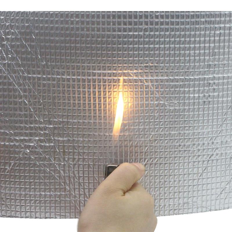 Cawanerl 400 CM X 100 CM feuille d'aluminium voiture insonorisation bouclier thermique tapis d'isolation tapis de blocage Deadener - 4