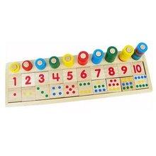Montessori game childhood educational toys teaching logarithmic plate height calculation of digital mathematical rainbow donut