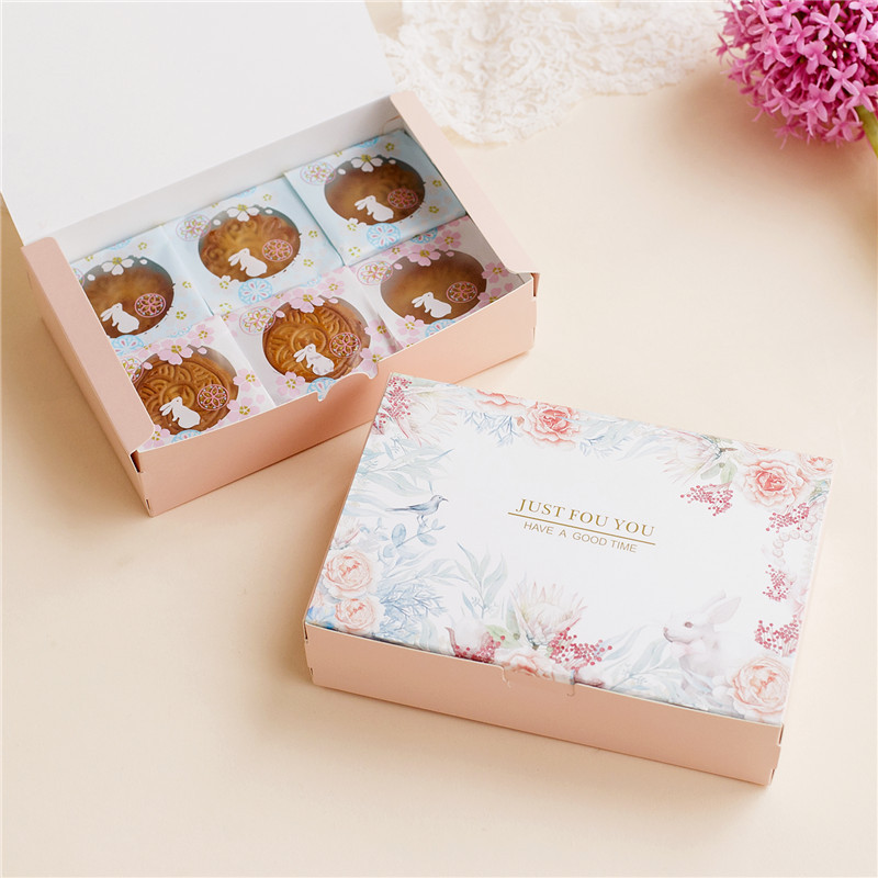 20pcs Cute Rabbit Paperboard Gift Box Packaging For Cookie Wedding