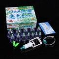 12 чашек здоровые медицинские вакуумные банки, всасывание терапевтического устройства массажер для тела