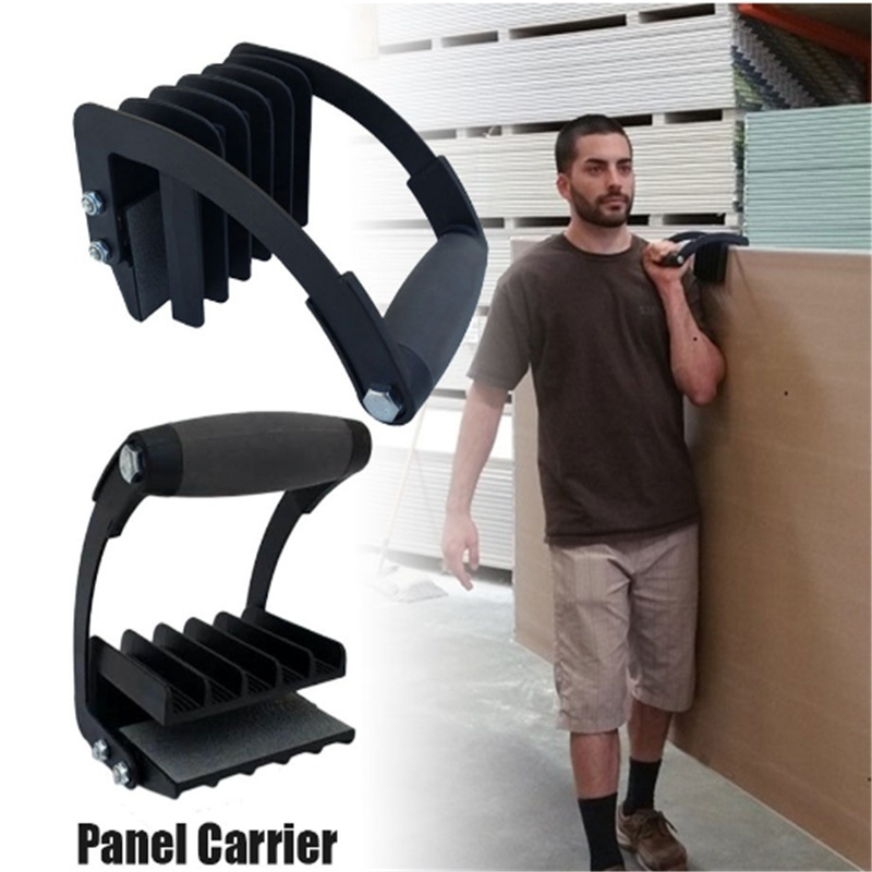 New Plywood and Sheetrock Panel Carrier, 0 to 1 1/8″, Heavy Duty Metal Gripper, Sheet Goods Carry Handle (Single)