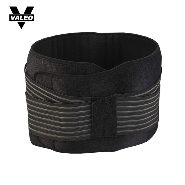 VALEO Men Nylon Weightlifting Belt Elastic Breathable Gym Crossfit Fitness Back Support Power Training Belt Equipment Size M/L