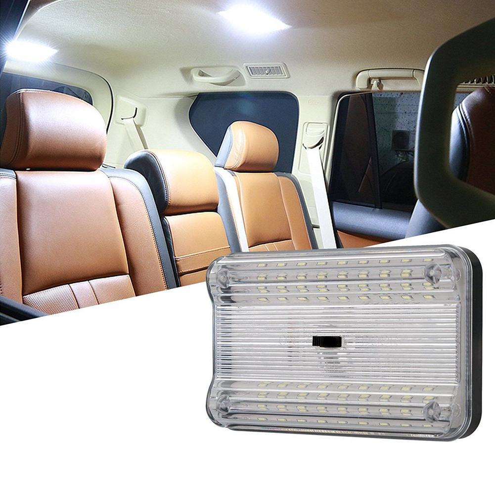 Gray Shell-Whie light Trailer Auto Car Ceiling Roof Lights Magnetic Dome Light with Universal USB Rechargeable Wireless 10 LEDs for Interior and Exterior of Car Boat Motorhome,Truck
