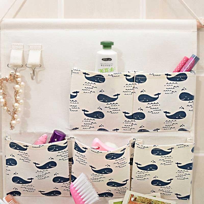 2018 Multilayer 7 Pockets Hanging Organizers Kitchen Bathroom Sundries Wall Storage Bag Linen Wall Door Wardrobe Hanging Bag