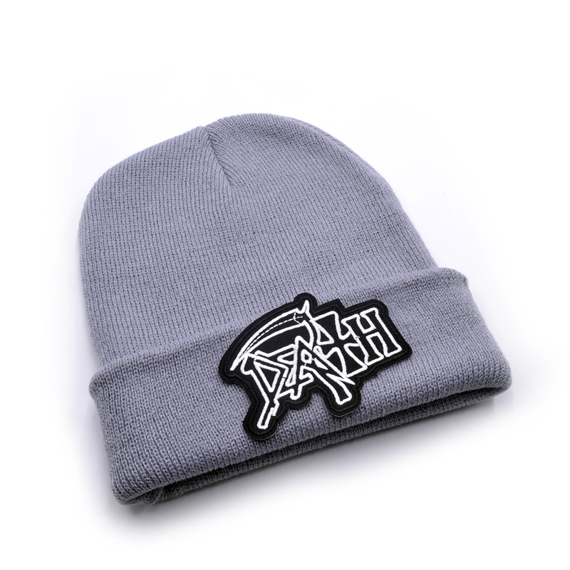 cbaf40b9561 Death band Men s Skullies Winter Knitted Hat Male Beanies Cap Casual ...