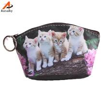 New Pu Leather Cat Coin Purse Cute Kids Cartoon Wallet Kawaii Bag Coin Pouch Children Purse Holder Women Coin Wallet 15