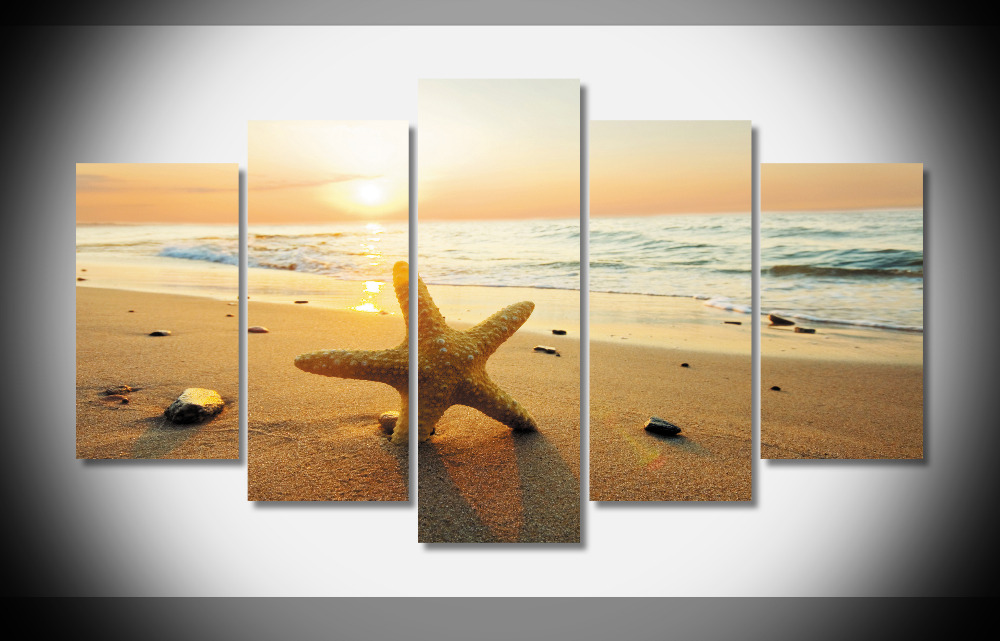 P0001 strand ozean sky shell natur Poster Gerahmte Galerie wrap home ...
