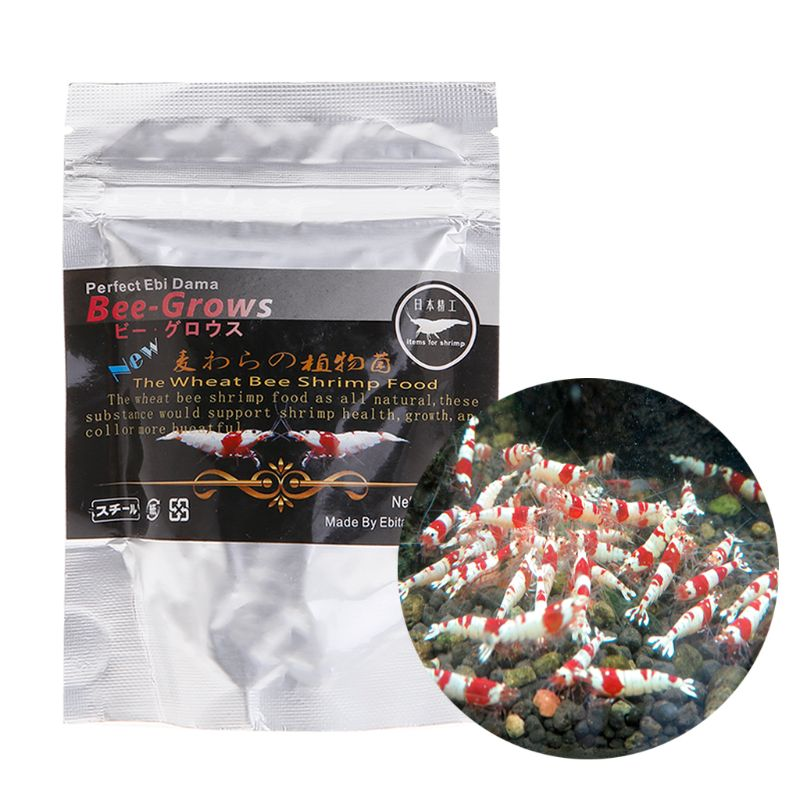 45g Fish Food Crystal Shrimp Aquarium Fish Tank Fish Wheat Stem Bacteria Vitamins Nutrition Good For Growing