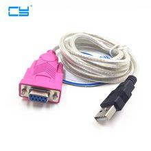 Usb Rs232 cable hembra 3 pies USB 2,0 a DB9 hembra puerto serie agujeros 9 agujeros COM cable de la computadora 1m nuevo con el controlador de CD al por mayor