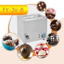 1PC FY-3V-B  Hot Sale Three-cylinder Electric Chocolate Fountain Fondue Hot Chocolate Melt Pot melter Machine