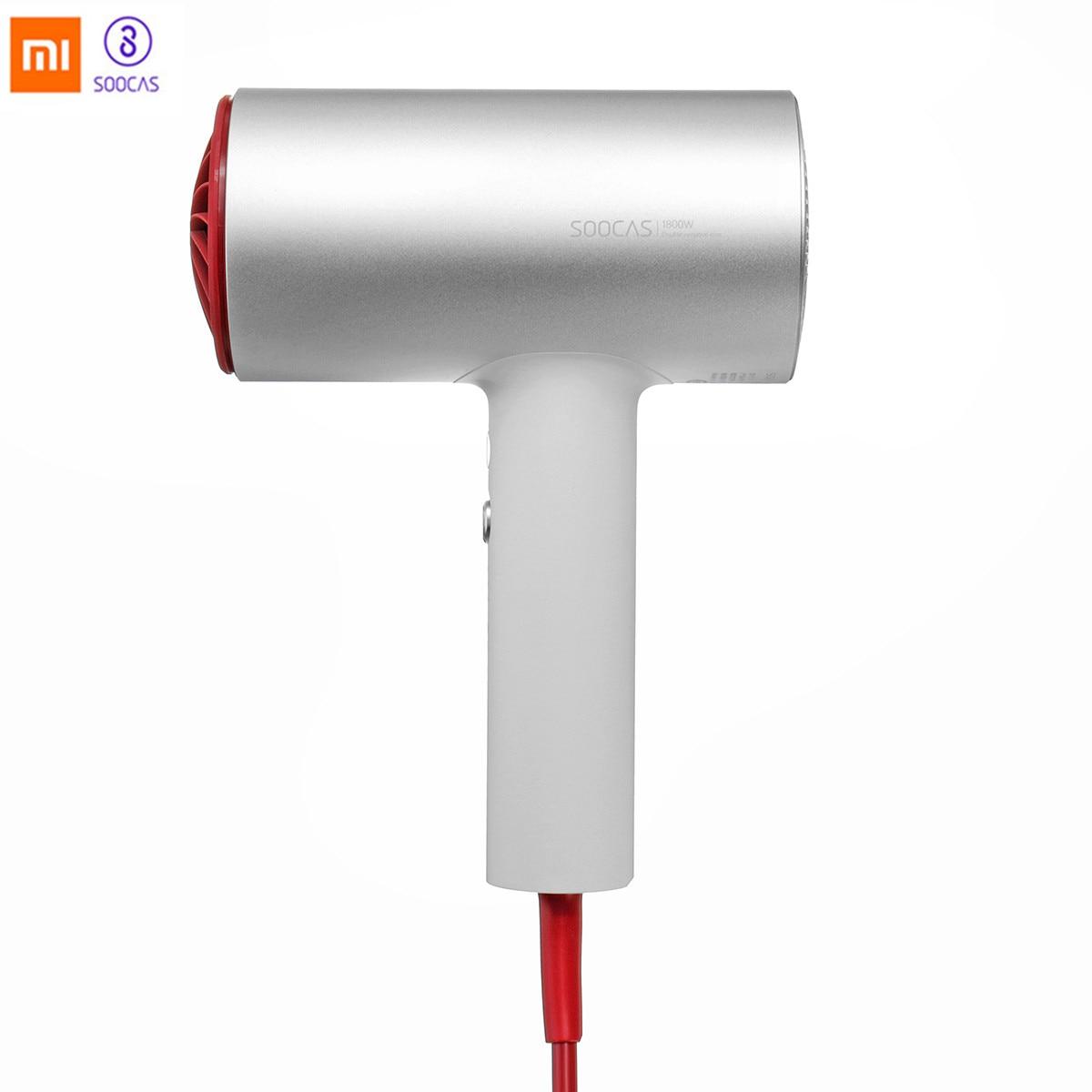 (International Version) Xiaomi Soocas H3 Original Anion Hair Dryer Quick-dry Hair Tools 1800W Air Outlet Anti-Hot Innovative EU цены онлайн