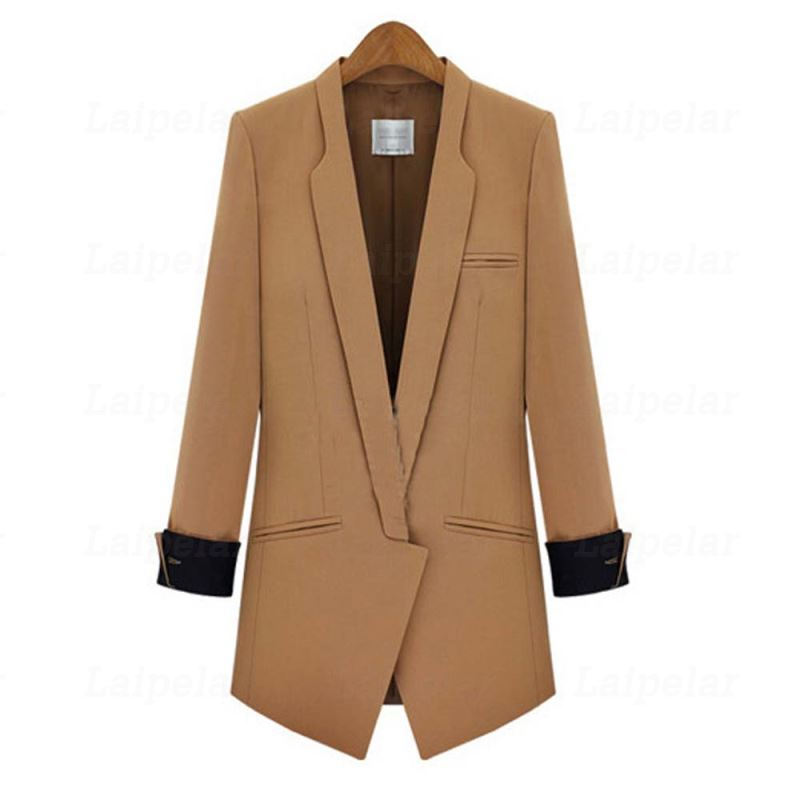 Laipelar Fashion Autumn Women Blazers Coats Work Office Lady Suit Slim None Button Business Clothes female blazer coat top