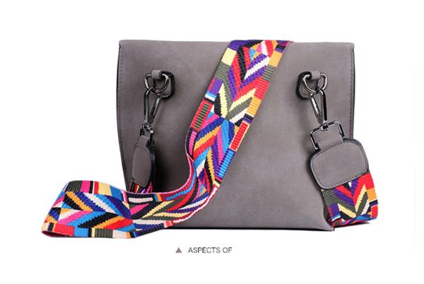 EXCELSIOR Women's Bag Scrub PU Crossbody Bags Luxury Handbags Women Bags Designer bolso mujer Colorful Strap sac a main femme 11