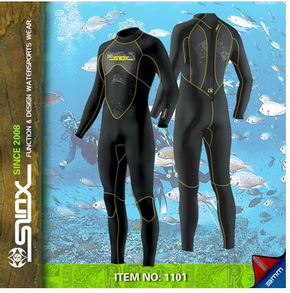 SLINX 3mm Neoprene Long Sleeve Men Wetsuit Diving Suit Winter Swimming Surfing Full Bodysuit Swimwear Diving  Free shipping