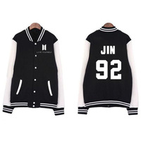 Aganmi New Kpop Bangtan Boys BTS Baseball Uniform Cotton Jacket Unisex Hoodie Fashion Coat Sweatshirt Harajuku