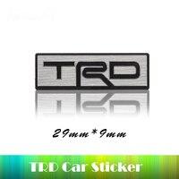 Stainless Steel TRD Emblem Car Steering Wheel Sticker TRD Refit For Toyota Prado Corolla Camry RAV4