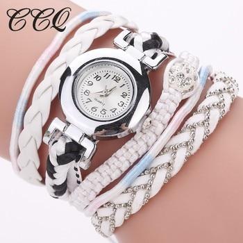 CCQ Women Dress Watch Handmade Braided Quartz Wristwatches Ladies Fashion Silver Bracelet Vintage Clock Drop Shipping New Hot lingerie top