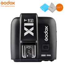 лучшая цена Godox X1N X1T-N 2.4 G E-TTL Wireless 1/8000s Flash Trigger Speedlite Single Transmitter (TX) for Nikon D3300 D3200 D5100 D7200
