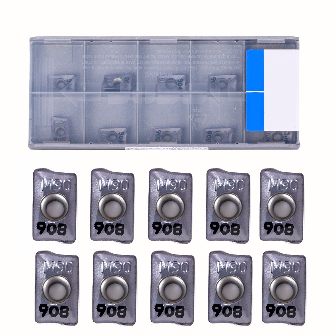 10pcs Durable Carbide Inserts HM90 APKT 1003 PDR IC908 Blades for Lathe Turning Tool Boring Bar