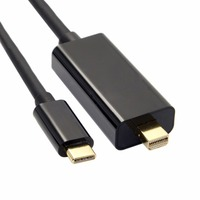 1 8m USB 3 1 Type C To Mini Display Port DP Male 4k Monitor Cable