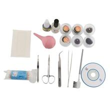 New Professional 1 Set Lady Natural False Eyelash Extension Kit Eye Lashes Glue Cosmetic Tools Hot Gift